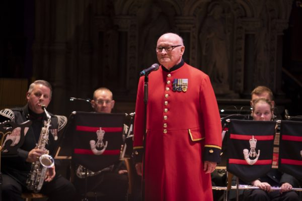 Colin Thackery with the Band of The Rifles PHOTO BY ASH MILLS
